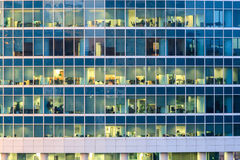 The windows of office building royalty free stock images
