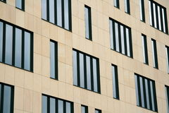 Windows in an office building stock photo