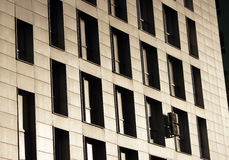 Windows office building for background. In Moscow Stock Image