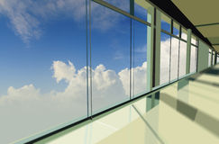 Windows in office building Royalty Free Stock Photo