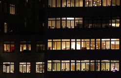 Windows of the office building Royalty Free Stock Images