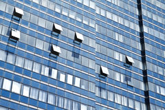 Windows of office buildings. Background windows of office buildings Royalty Free Stock Images