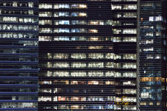 Windows. Of the offices facin at the marina bay Royalty Free Stock Photos