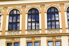 Windows on an old baroque building Stock Photography