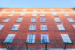 Windows and Old Brick Wall Royalty Free Stock Photography