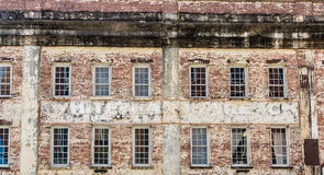 Windows in Old Brick Warehouse Stock Photos