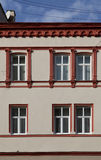 Windows of old building. The decorated windows of the old building Royalty Free Stock Photography