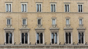 Windows of an old building in Rome Royalty Free Stock Image