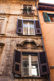 Windows of old buildings Royalty Free Stock Photography