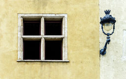Windows of old centrel in Nancy, France Stock Images