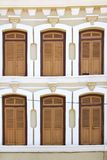 Windows of an old Chinatown House Royalty Free Stock Images
