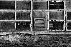 Windows of an old factory Royalty Free Stock Image