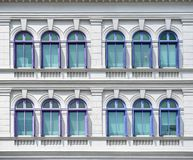 Windows of Old Hill Street Police Station. SINGAPORE - JANUARY 04: MICA building on January 04, 2015 in Singapore. It was known as the Old Hill Street Police stock photo