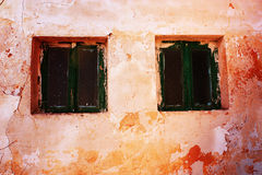 Windows of old house Royalty Free Stock Image