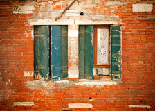 Windows of old house Stock Images