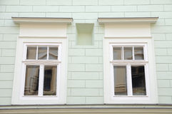 Windows on the old house Stock Photography