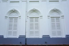 Windows of the old house in Manila, Philippines Royalty Free Stock Images
