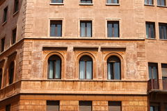 Windows of old house. Mediterranean architecture in Rome, Italy. Stock Images