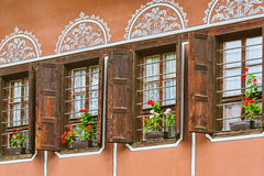 Windows of an Old House Royalty Free Stock Photo