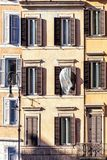 Windows of an old house in Rome