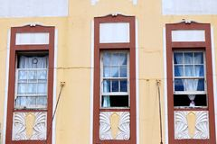 Windows on Old House Stock Photos