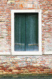Windows of old house in Venice Stock Photos