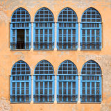 Windows of old monastery Royalty Free Stock Photo