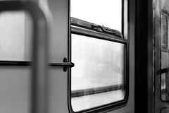 Windows in the old train Royalty Free Stock Photography