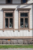 Windows of old village house Royalty Free Stock Images