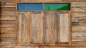 Windows old wood wall Stock Images