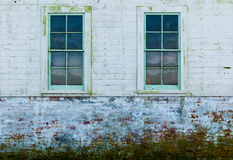 Windows of old wooden house Royalty Free Stock Image