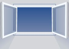 Windows open Royalty Free Stock Image