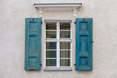 Windows with open shutters. Stock Photography