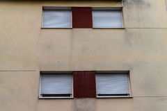 Windows outdoors from residential apartment Royalty Free Stock Photos