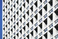 Windows outside modern building Royalty Free Stock Photo