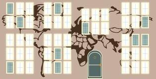 Windows på världen vektor illustrationer