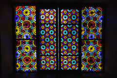 Windows of Palace of Shaki Khans. Colorful textures of the Palace  in Azerbaijan Royalty Free Stock Image