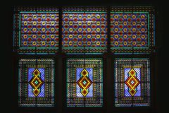 Windows of Palace of Shaki Khans Royalty Free Stock Photography