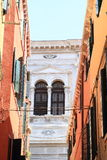 Windows of palace in Venice Stock Photos