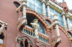 Windows at Palau de la Música Catalana, Barcelona Royalty Free Stock Photos