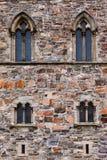 Windows in parete della fortezza - Bergen Norway immagini stock libere da diritti