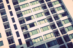 Windows pattern textures exterior of building Royalty Free Stock Photos