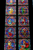 Windows peint par ?glise Photographie stock
