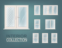 Windows Photorealistic Set. For Print, Web and Architecture Royalty Free Stock Photos