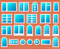 Windows plastic set vector Stock Image