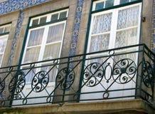 Tradicional achitecture of Porto, Portugal. Windows, Porto, Portugal- Walking around the city stock photos