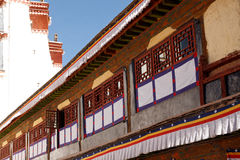 Windows of Potala Palace in Lhasa, Tibet Royalty Free Stock Photography