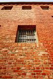 Windows on the prison wall Stock Image