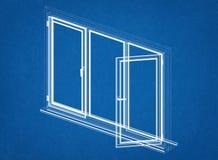 Windows projekt - architekta projekt Zdjęcia Stock