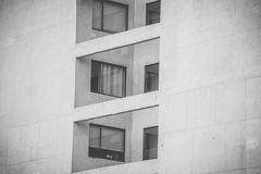 Windows przy budynkiem Obraz Stock